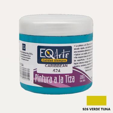 PINTURA A LA TIZA EQARTE 926 VERDE TUNA 200 CC