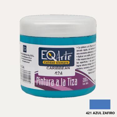PINTURA A LA TIZA EQARTE 421 AZUL ZAFIRO 200 CC