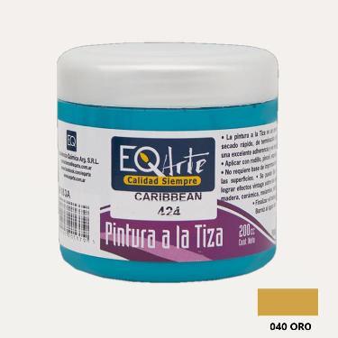 PINTURA A LA TIZA EQARTE 040 ORO 200 CC ART.3800-040-200