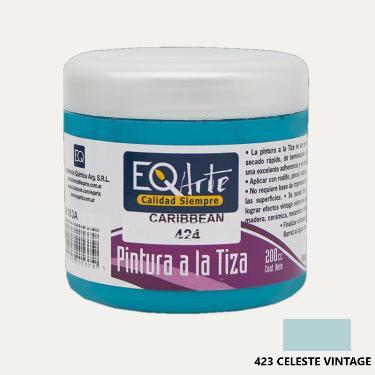 PINTURA A LA TIZA EQARTE 423 CELESTE VINTAGE 200 CC