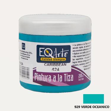 PINTURA A LA TIZA EQARTE 929 VERDE OCEANICO 200 CC