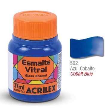 PINTURA ACRILEX VITRAL ESMALTE 602 AZUL COBALTO 37CC