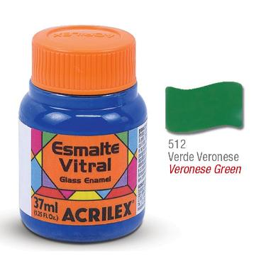 PINTURA ACRILEX VITRAL ESMALTE 612 VERONESE 37CC
