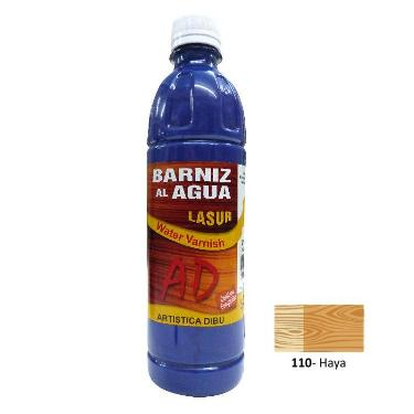BARNIZ AL AGUA AD LASUR HAYA 500 ML