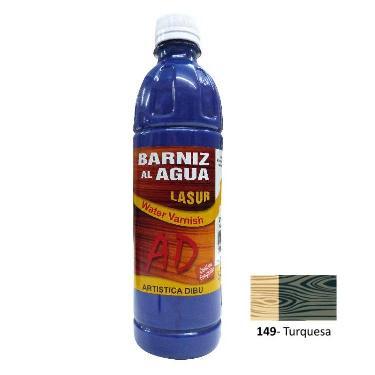 BARNIZ AL AGUA AD LASUR TURQUEZA 500 ML