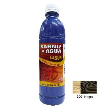 BARNIZ AL AGUA AD LASUR NEGRO 500 ML