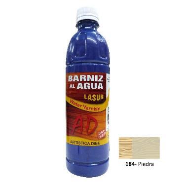 BARNIZ AL AGUA AD LASUR PIEDRA 500 ML
