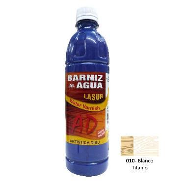 BARNIZ AL AGUA AD LASUR BLANCO TITANIO 500 ML