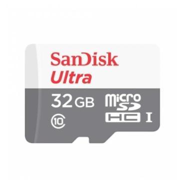 TARJETA MICRO SDHC SANDISK 32GB CON ADAPTADOR ULTRA CLASE 10 80Mb-S