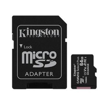 TARJETA MICRO SDXC KINGSTON 64GB CANVAS SELECT PLUS CON ADAPTADOR