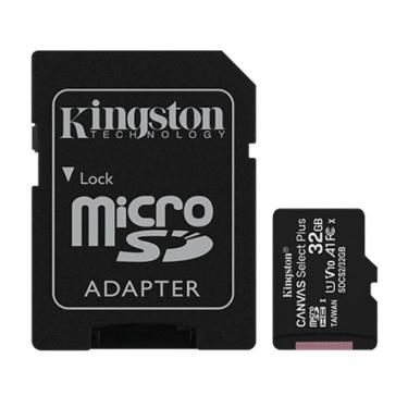 TARJETA MICRO SDHC KINGSTON 32GB CANVAS SELECT PLUS CON ADAPTADOR