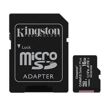 TARJETA MICRO SDHC KINGSTON 16GB CANVAS SELECT PLUS CON ADAPTADOR