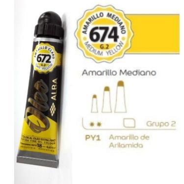 PINTURA OLEO ALBA G2-C 18ML 674 AMARILLO MEDIANO