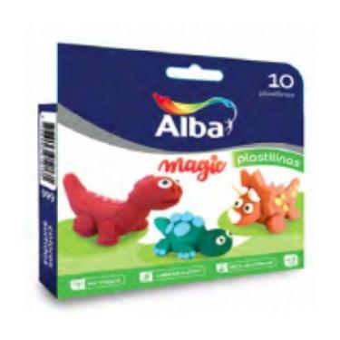 PLASTILINA ALBA BLISTER X 10