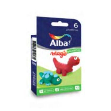 PLASTILINA ALBA BLISTER X 6