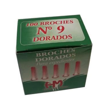 BROCHE MARIPOSA DORADO Nº 9