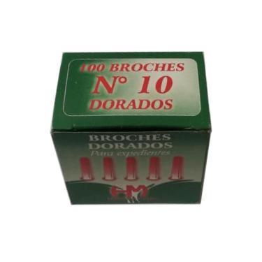 BROCHE MARIPOSA DORADO Nº 10