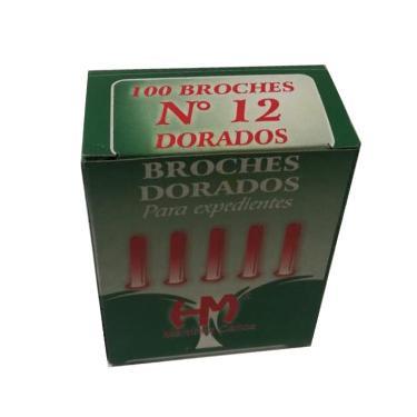 BROCHE MARIPOSA DORADO Nº 12