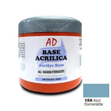 BASE ACRILICA AD AZUL ESMERALDA 200ML