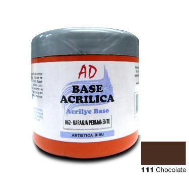 BASE ACRILICA AD CHOCOLATE 200ML