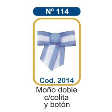 ESCARAPELA MILENIO N° 114 MOÑO DOBLE CON COLITA Y BOTOON