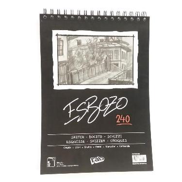 BLOCK ESBOZO A4 240 GR CON ESPIRAL 40 HOJAS LISO