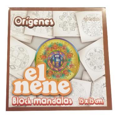 BLOCK EL NENE 15x15 cm MANDALAS ORIGENES 24 HOJAS