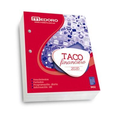 TACO CALENDARIO MEDORO FINANCIERO 2020