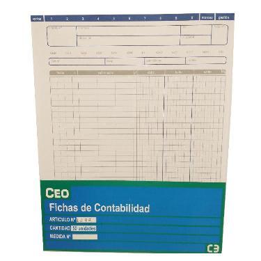 FICHAS GA Nº4 CUENTA CORRIENTE X 50 CEOFIC