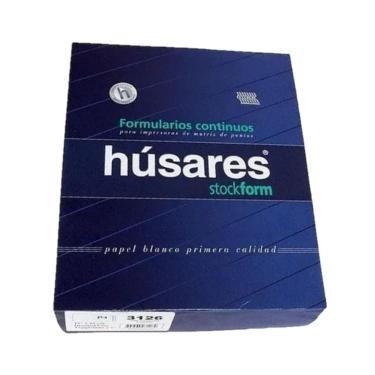 "PAPEL FORMULARIO CONTINUO PLECA 4"" HUSARES 12""x25Ccm"
