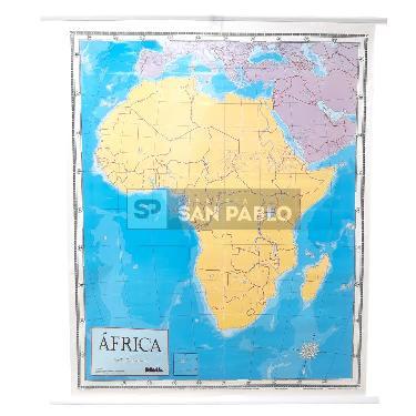 MAPA LAMINADO PIZARRA PARA MARCADOR AFRICA