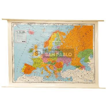 MAPA LAMINADO POLITICO MURAL EUROPA