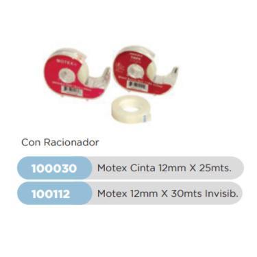 CINTA MOTEX 12X25 MT. CON RACIONADOR