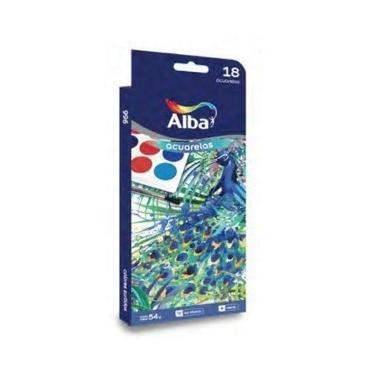 ACUARELA ALBA 18 COLORES BLISTER