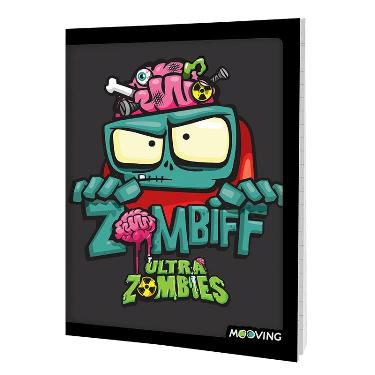 CUADERNO MOOVING TAPA FLEXIBLE 48 HOJAS ZOMBIE INFECTION