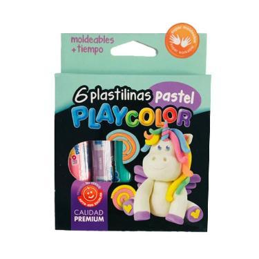 PLASTILINA PLAYCOLOR PASTEL X 6 BARRAS
